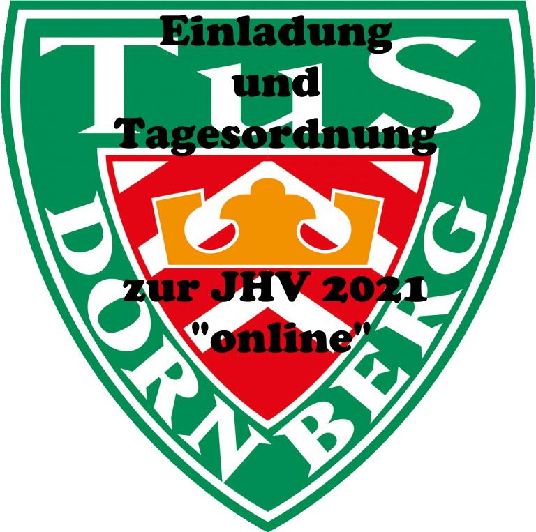 Einladung und Tagesordnung zur JHV am 10.Juni 2021